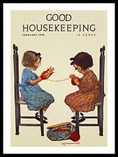 Jessie Willcox Smith Good Housekeeping February Poster Kunstdruck & Rahmen 40x30
