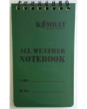 Kombat Impermeable Espiral Mini Bloc de notas Notebook 50 página 12,8 X 7,6 Cm