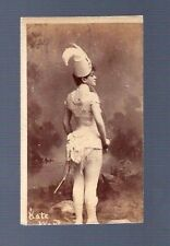 BOUDOIR Photo Card WOMAN Beautiful sword uniform victorian sexy Kate vintage