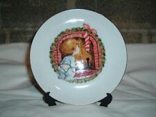 Nib Jasco Porcelain Christmas Plate Boy Chimney Stocking 22K Gold Edged 6.5 dia.