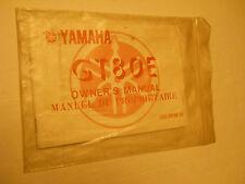 NOS YAMAHA GT80 E   OWNERS MANUAL