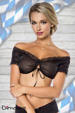 Sexy Dirndl-Bluse  schwarz oder weiß  S M L XL 2XL 3XL