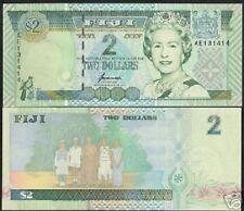 FIJI 2 DOLLARS P96 B 1996 BIRD QUEEN ISLAND UNC PACIFIC CURRENCY MONEY BANK NOTE