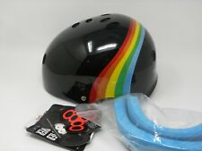 Triple Eight Sweatsaver Multi Sport Helmet Black Rainbow Sparkle L/Xl Skate Gear