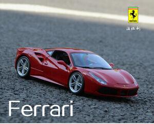 Men Gift 1:24 Bburago Ferrari 488 GTB Diecast Alloy Static Car Model no box