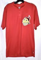 CLEVELAND INDIANS Cooperstown Majestic Jersey Shirt (Sz L/Large) Cool Base MLB