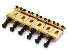 (6) Gold Bent Steel Narrow Saddles for Modern/Import Fender Strat® BS-SI-G