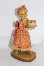 "Sarah Kay Anri Club-Special-Make A Wish-5""-Woodcarved Figurine"