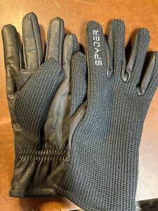 Spyder Black leather Palm Gloves SIZE Med USED Excellent