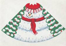 Labors of Love Winter Cone Snowman Ornament handpainted Needlepoint Canvas 18m