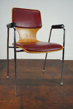 60er Vintage Armrest Chair Retro Dining Room Chair Desk Stacking Chair