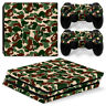 For PS4 Pro Camouflage Camo Army Skin PlayStation 4 Texture Vinyl Sticker Decal