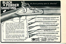 1969 Print Ad of Hopkins & Allen Muzzle Loading Rifle Minuteman Heritage Stalker