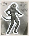 Miss Torso Georgine Darcy Wild Cat Pin Up Photograph Original 1954 Love Me Madly