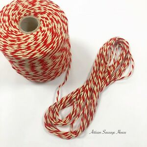 String  Bakers Red&White Craft Butchers String Twine Parcel Gift DIY Garden Cord