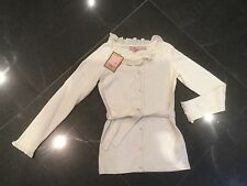 NWT Juicy Couture & GenerationMädchen Age 8 Creme-baumwolle Mischung Strickjacke