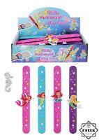 Kids Wrist Snap MERMAID SLAP BANDS Party Bag Filler Toy Magical Birthday Gift UK