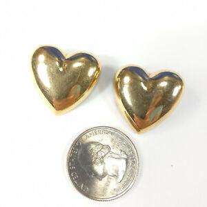 Lone*Star*Treasures Pretty Gold Heart Earrings Pierced