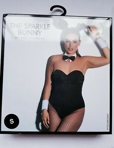 Ann Summers Sparkle Bunny Black Sexy Fancy Dress Outfit Small 8/10 Halloween New