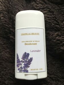 All Natural Organic VEGAN Deodorant Lavender Scented - WORKS! (with Shea Butter)