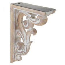 Rustic White Flourish Corbel SET OF TWO