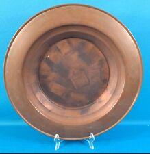 "Antique/Vintage Gorgeous Solid Copper 17 1/2"" Charger Plate, 2"" Deep"
