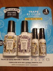 Poo Pourri 4 Pack!!! 2 3.4 oz bottles and 2 1 0z bottles!!!