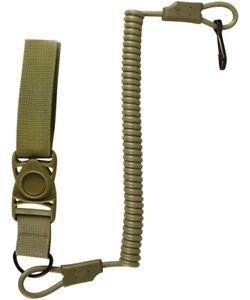 Tactical Pistol Lanyard With Quick Release Belt Loop - Coyote