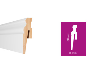 MDF WHITE SKIRTING BOARD - MAT COLOUR - VARIOUS SIZES -  2.42 meters length