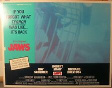 """JAWS 1975 """"SAME YEAR' RE-RELEASE LOBBY CARD MOVIE POSTER 3"""