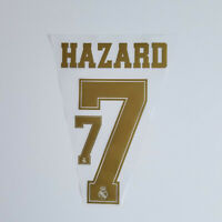 Real Madrid 2019 2020 Eden Hazard Shirt Jersey Shirt Name Number 7 Set Gold