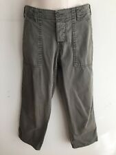 JOIE Capri Pants Muted Olive Cotton Twill Size 2