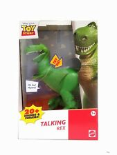 """Toy Story REX (dinosaur) 8"""" TALKING Action Figure Boxed Packaging"""