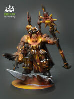 Sorcerer Lord in Terminator Armour Chaos 40K ** COMMISSION ** inferno painting