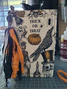 """Handmade Gothic Halloween Grunge/Dark Junk Journal Witch """"Scary"""" Book"""