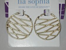 Gold -Rv $36 Stylish & Chic Lia Sophia Crosshatch Earrings - Matte