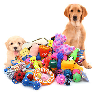 Dog Toys Assorted Play Bundle Puppy Pet Ropes Chew Squeaky Fetch Balls Training