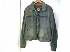 NEW Men's OLD NAVY Grunge Hipster Fade Lined Jean Jacket Size M-FAST SHIPPING!!