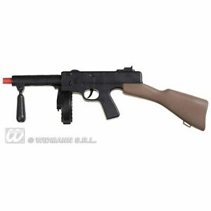 Tommy Machine Gun Weapon Soldier Replica Fancy Dress Costume Accessory Prop