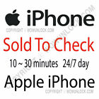 Apple iPhone sold to by info check by IMEI Report Service