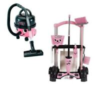 Casdon Little Helper Hetty Hoover & Trolley Cleaning Toy Set Playset Bundle