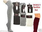 ★ 1 Paar Damen Overknees Overknee Socken Strümpfe Strick ★ Damen oder Teenager ★