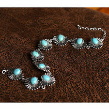 Chunky Turquoise Fashion Chain Charm Collar Choker Bib Necklace Women Jewelry