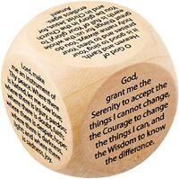 "Large Size Wooden Prayer Cube (NC157)  2.25"" Diameter"