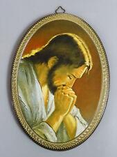 Wandbild Bild Laminiert auf Holz handgefertigt Heilige Jesus Christus Gebet Neu