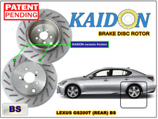 "Lexus GS200T brake disc rotor KAIDON (Rear) type ""BS"" / ""RS"" spec"