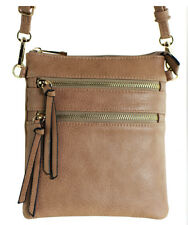 New Functional Multi Pocket Crossbody Bag 80808A,STONE,WITH TAGS, READY TO SHIP