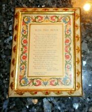 Vintage Italian Wooden Toleware Frame - 1932 House Blessing