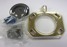 Franklin Brass Wall Mounted Brush & Tumbler Holder Polished Chrome/Brass 718A
