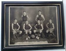 ANTIQUE 1908 HIGH SCHOOL BOYS SPORTS EARLY BASKETBALL PHOTOGRAPH PHOTO